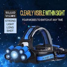 LED Zoom  Waterproof USB Charging 18650 Headlamp Outdoor Night Fishingdiademas De Luces Glare Long-range Head Flashlight
