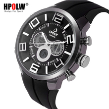 HPOLW Brand Outdoor Sport Watch Men 30m Waterproof Digital Quartz Dual Time Sports Military Watches Climbing Running Clock Men