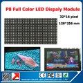 Открытый RGB p8 из светодиодов знак дисплей блок 256 * 128 мм прокрутки сообщения открытый стены из светодиодов с высокой яркий