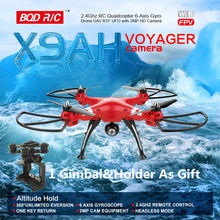 BQD X9AH 2.4G RC Quadcopter Drone Altitude hold mode Wifi HD Camera Can Updated To 5.8G FPV And Gimbal Holder Gopro SJCAM