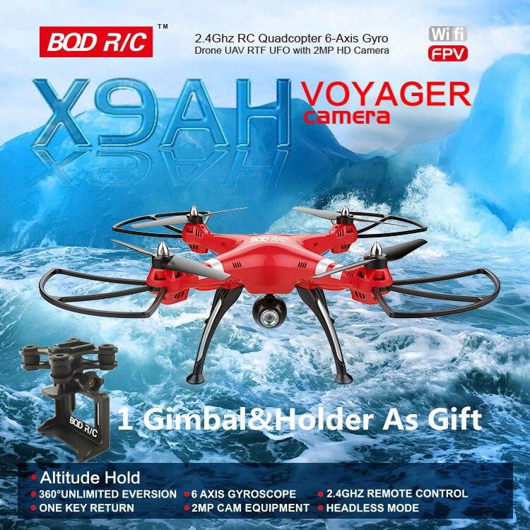 BQD X9AH 2.4G RC quadrirotor Drone mode de maintien d'altitude Wifi HD caméra peut mis à jour à 5.8G FPV et support de cardan Gopro SJCAM