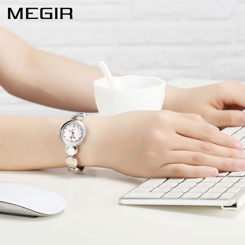 MEGIR Luxury Ladies Watch Women Dress Quartz Watches Fashion Relogio Feminino Clock Montre Femme Gift for Wife Girlfriend dom fashion quartz women watch rhinestone leather casual dress watches rose gold ladies clock relogio feminino montre femme