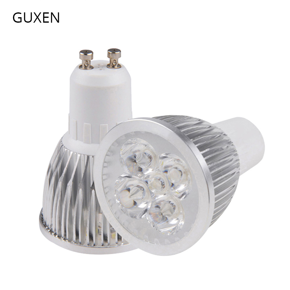 GUXEN GU10 Led lamp Bulb Dimmable/No-dimmable 3W 4W 5W 6W 8W 9W 10W AC110V-240V Led spotlight for living room zigbee bridge led rgbw 5w gu10 spotlight color changing zigbee zll led bulb ac100 240v led app controller dimmable smart led