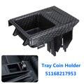 Автомобильный карбоновый центральный консольный лоток для хранения монет для BMW E46 325 3 серии 51168217957