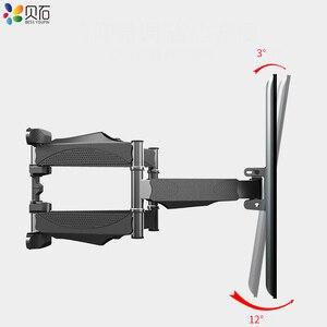 Image 2 - BEISHI 6 Arms TV duvar montaj aparatı tam hareket Tilt TV braketi 32  65 için takım elbise TV ekranı yüklemek 40kg VESA 400x400mm