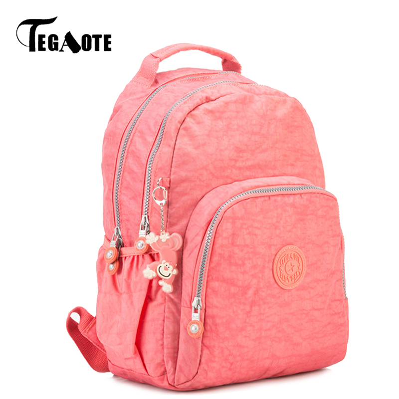 TEGAOTE Small Backpack for Teenage Girls Mochila Feminine Backpacks Female Solid Nylon Casual Bagpack Women Travel Bag Sac A Dos women backpack mochila backpack for travel sac a dos korean style backpacks for teenage girls high quality bag gift for new year