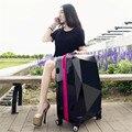 ABS maleta trolley Del Viaje Del Equipaje de espejo de diamante universales mujer estudiante caja de equipaje suave 20 \ 24 pulgadas Rueda de Ruleta