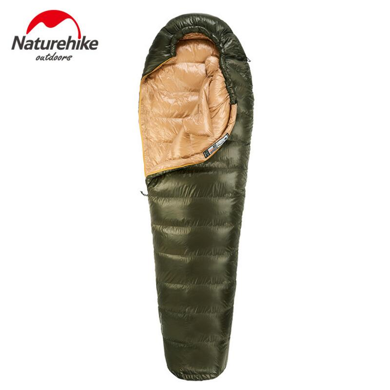 Naturehike Travel Outdoor Camping Sleeping Bag Winter 400G 800G 1000G Ultralight Duck down Sleeping Bag Adult NH15D800-K envelope light sleeping bag naturehike adult camping outdoor sleeping bag duck travel down sleeping bag spring autumn winter