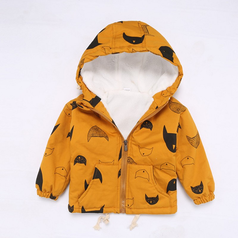 /'Baby Infant Toddler girl Winter Horn Button Hooded Coat Outerwear Jacket 6M-3Y