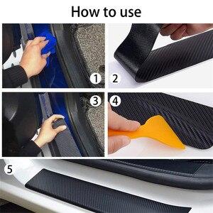 Image 5 - Placa de puerta de fibra de carbono para coche pegatinas antiarañazos para Toyota Corolla, Seat Leon, Jeep, Fiat, Skoda, Fabia, Rapid Renault, plumero, 4 Uds.
