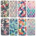 """2015 moda de nova chegada 21 estilos flores pintadas plástico rígido de volta caso capa para Apple iPhone 6 6 S 4.7 """""""