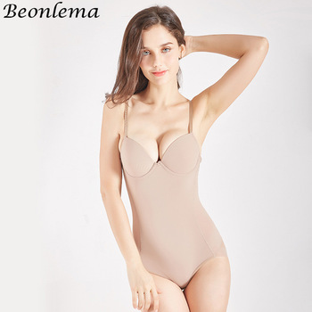 Beonlema Body Shaper Women Sexy Shapewear Bodysuit Femme Black Slimming Underwear Butt Lifter XL Soft Open Crotch Lingerie 1