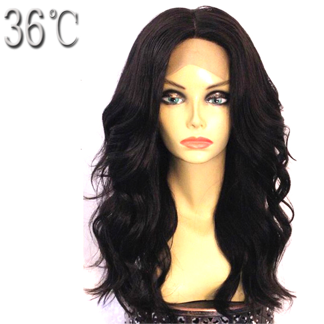 36C Natural Wave Glueless Lace Front Human Hair Wig Middle Part Peruvian Non Remy Wig With Baby Hair Natural Hairline Free ship