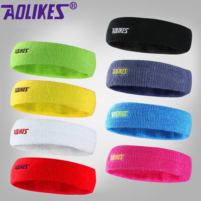 Aolikes Headbands for Men and Women Sports Thick Cotton and nylon Yoga  Headband b4e949c59a0