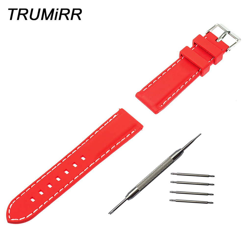 22mm Silicone Rubber Watch Band Bracelet Strap for Moto 360 2 46mm Gear 2 R380 R381 R382 LG G Watch W100 W110 W150 Pebble Time купить в Москве 2019