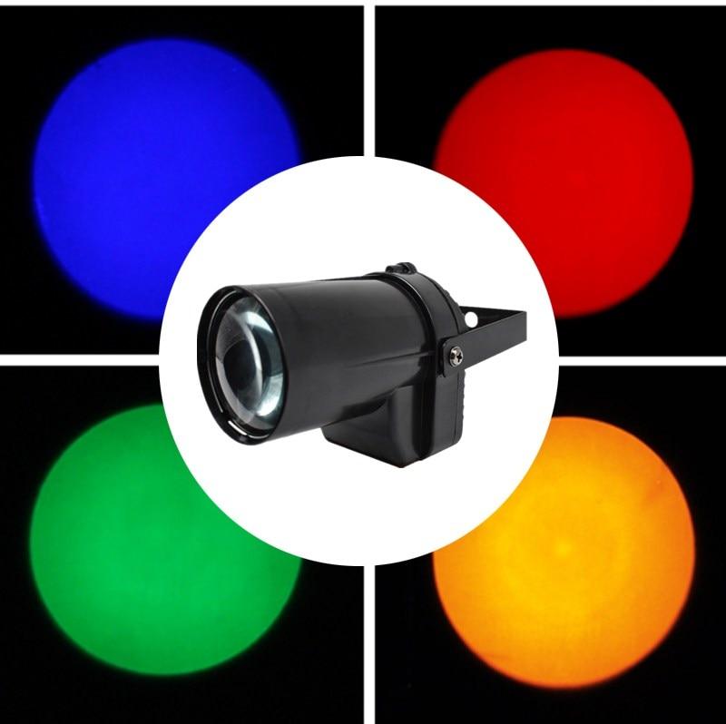 Hot Sale Mini 3W 200-220LM LED SpotLight DJ KTV Party Dsico Xmas LED Lighting LED Spot Light Mounted Pinspot Stage Beam Lamp