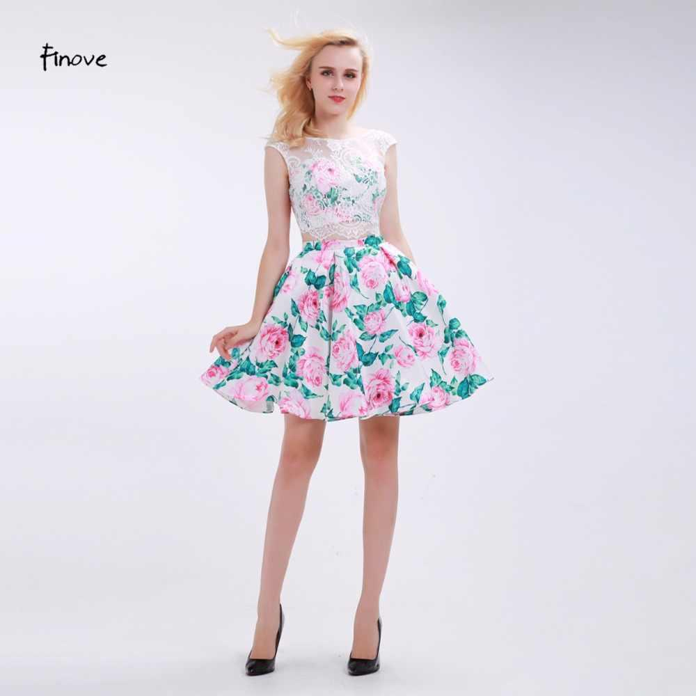 ecd46862824a62d Finove/платье для выпускного вечера с цветочным рисунком, новинка 2018  года, комплект из