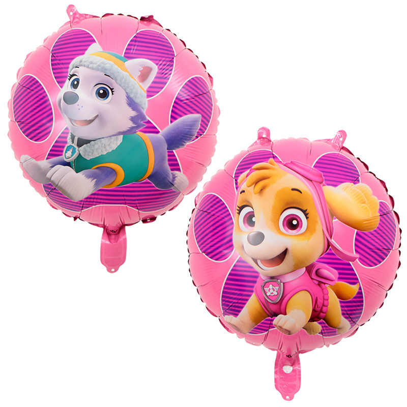 Paw Patrol Puppy Balloon Figure Toys Birthday Decoration Toy Chase Marshall Party Room Deco Ballon