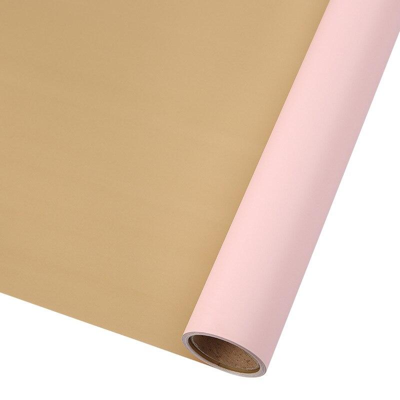 60 см* 10 м/рулон конфеты цвет цветок оберточная бумага Роза свадебная бумага для украшения на рождество упаковка букета материал - Color: N4