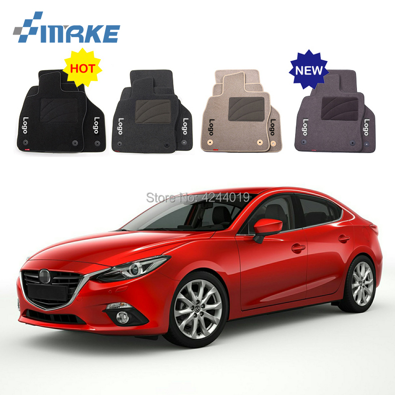 For Mazda 3 Car Floor Mats Front Rear Carpet Complete Set Liner All Weather Waterproof Customized Car Styling for honda fit car floor mats front rear carpet complete set liner all weather waterproof customized car styling