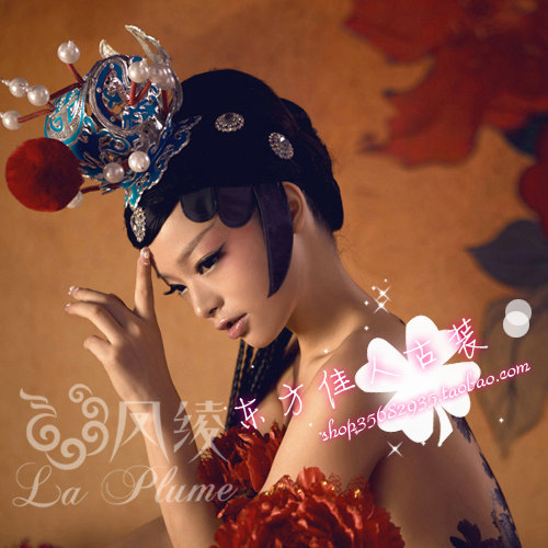 Nian Ru Jiao Monkey King Costume Set and Hair Accessory crownpiece Dream of Red Mansion Jia Bao Yu Same Design Hair Tiaras канцтовары ru yi yu 2639