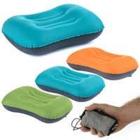 Mini almohada inflable viaje aire Camping almohadas cuello al aire libre senderismo viaje almohada o almohadas inflables cuerpo espalda suave