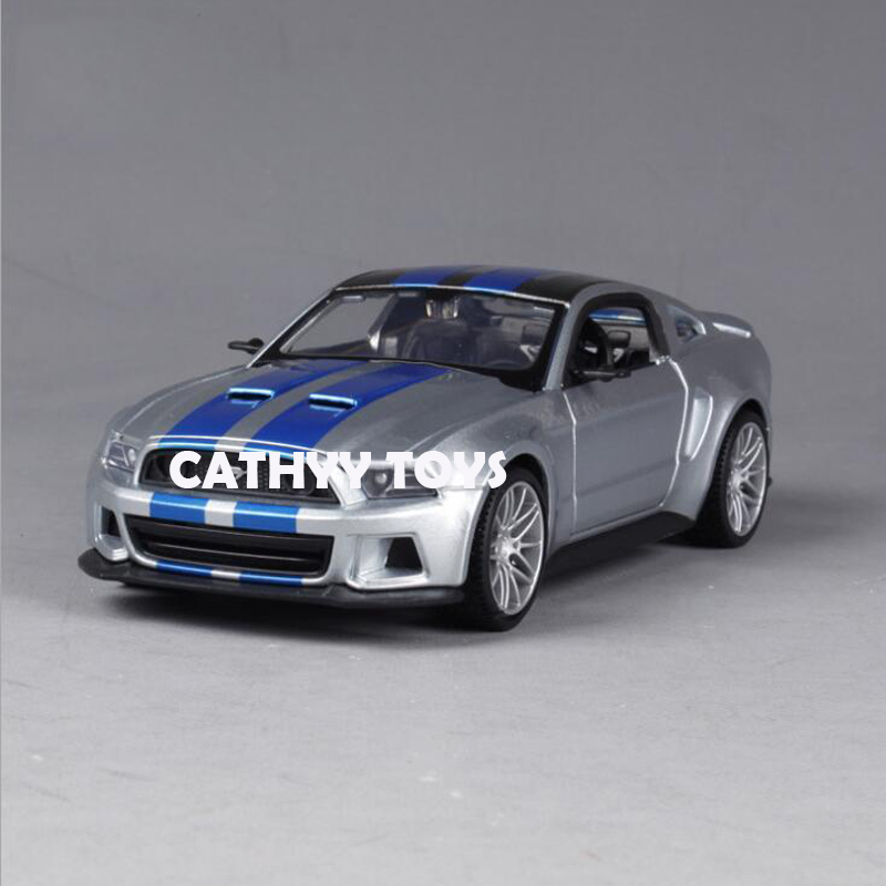 <font><b>1:24</b></font> Need For Speed 2014 <font><b>Ford</b></font> <font><b>Mustang</b></font> GT 5.0 Diecast Model Racing Car Toy for Adult Children Collection image
