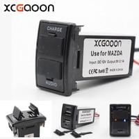 XCGaoon Speciale Gewijd 5 V 2.1A Auto USB Interface Socket Charger Adapter en USB Audio-ingang voor MAZDA