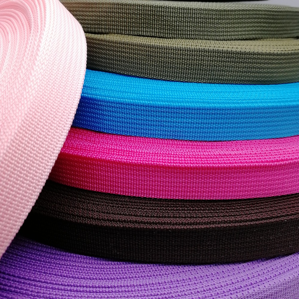 Polypropylene Webbing 20mm Wide 45 Yards Tape For Bags Sewing Belt Webbing Strapping Braided Strap Garment Shoes