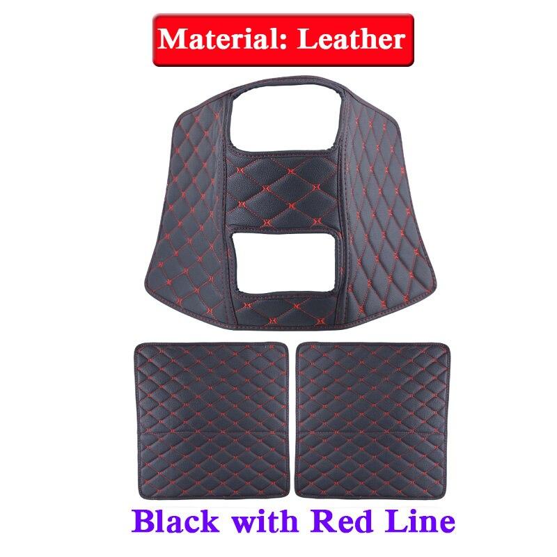 Car Styling 3pcs Leather Seat Back Anti Kick Mats For KIA KX5 2012 2018 Anti Child