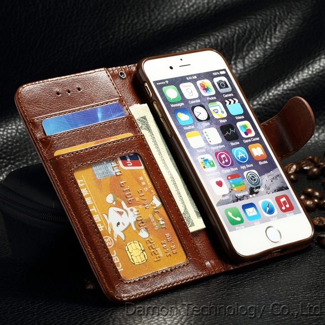 Luxury Flip Leather Wallet Cover For iPhone 6