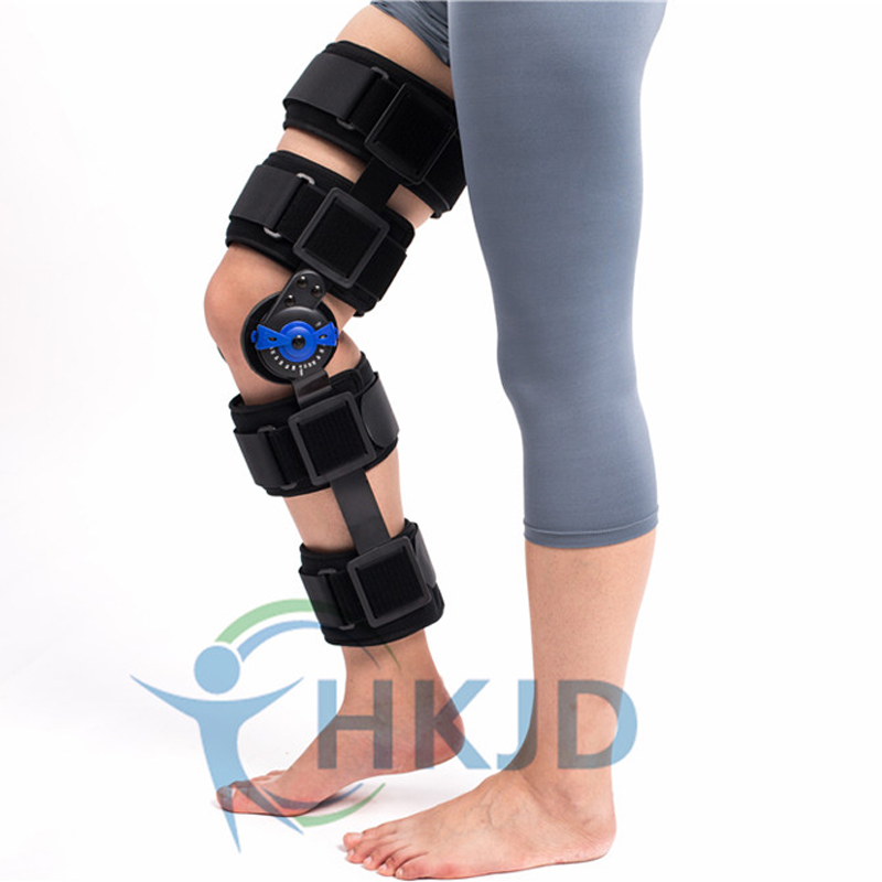 Knee Support Brace Adjustable Orthosis For Patellar Fracture Dislocation Medium Size 41-47 cm HK-D003 Free shipping