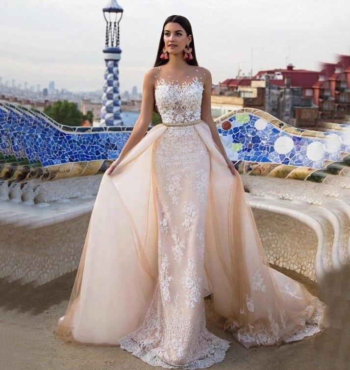 CLOUDS IMPRESSION Sexy 2019 Wedding Dress Bridal Dress Vestige De Noiva Gown Bridal Plus Size Romantic