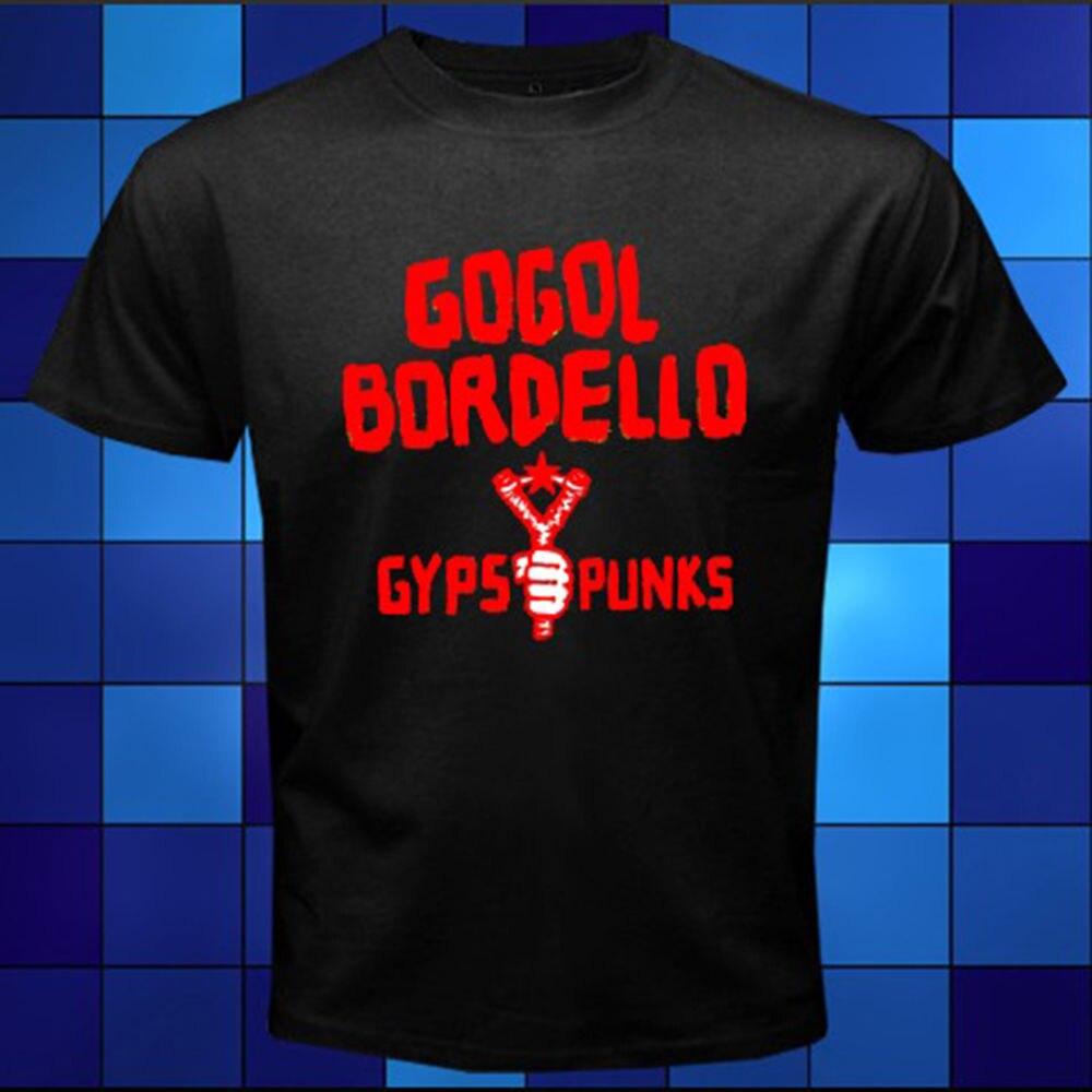 Возьмите Новый Gogol Bordello Gypsy панк-группы Мужская футболка