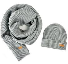 Мужской женский и мужской трикотажный шарф шапка bruceriver