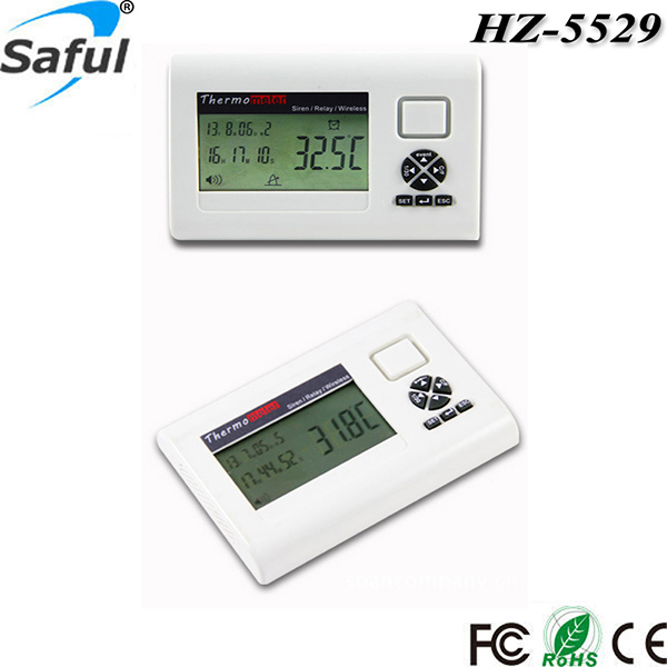 Free Shipping 433mhz Lcd Display Wirelessalarm Thermometer Temperature
