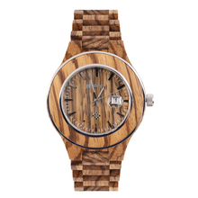 2016 Man Wooden Watch New Year Gift Bangle Quartz Watch With Calendar Display Role Men Relogio Masculino Watches Hot Selling