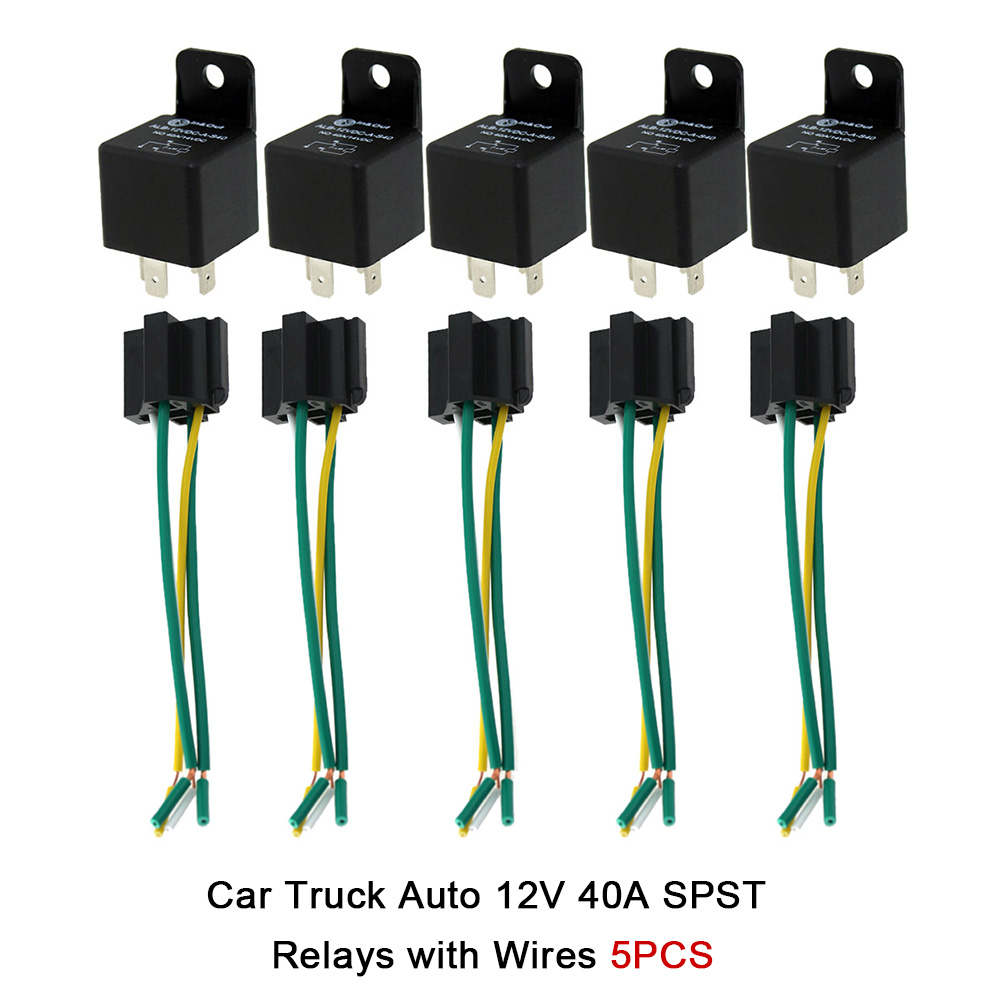 Universal Auto Relays Starter Jd234 With Two Wires For Dongfeng Wiring A Changeover Relay 5pcs Car Truck 12v 40a Spst Automatic Switch Automotive