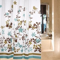 1PC Mouldproof PEVA Shower Curtain Leaves Waterproof Modern Bathroom Curtains Rideau De Douche With 12 Hooks Free 180*180cm YL36