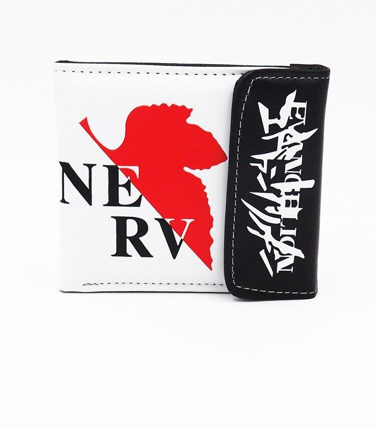 Anime EVA Neon Genesis Evangelion PU Short Wallet Purse Gift