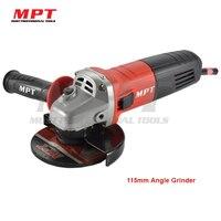 MPT 680 Watt 115mm Winkelschleifer Spindel M14 kohlebürste 1 Satz Hilfs Griff Wrench Rad Schutz 1 Stücke nützliche Elektrowerkzeug
