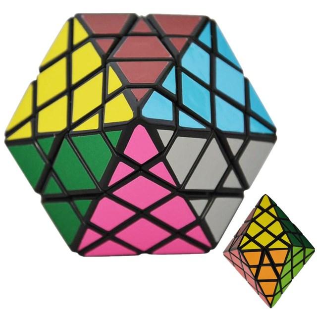 DianSheng Pirámide Octogonal Dipyramid 4x4 Modo Forma Cubo Mágico Puzzle Juguetes para Los Niños