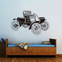 High Quality Personality Retro Carriage Wall Stickers Home Decor Art Murals Silhouette Wall Sticker For Kids