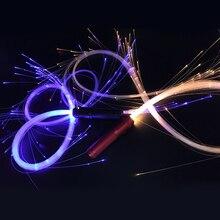 Четырехместный светодиодный волоконно-оптический светильник многоцветная мигающая вспышка светильник из оптического волокна для ночного клуба реквизит для сцены персонализированные подарки
