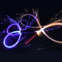 Quadruple LED Fiber Optic Light Whip Multicolor Flashing Flashlight Optical Fiber Whip Nightclub Stage Props Personality Gifts