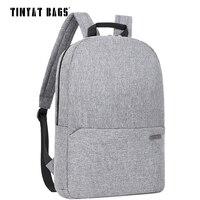 TINYAT Men Male Laptop Backpack For 15 6inch Notebook Women Casual Canvas School Backpack Travel Knapsack