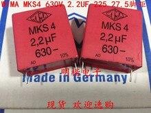 2019 hot sale 10pcs/20pcs German capacitor WIMA MKS4 630V 2.2UF 225 630V 2U2 P: 27.5mm Audio capacitor free shipping 50pcs cbb capacitor 630v 474 470nf 0 47uf pitch 20mm