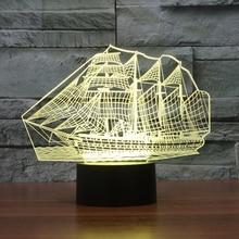 Sailboat Shape font b 3D b font Illusion font b LED b font Night font b