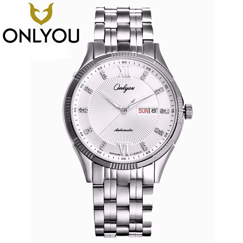 ONLYOU Top Brand Luxury Lovers Watches Waterproof Automatic Clock Men Women Mechanical Watch Luminous Sport Casual Watch