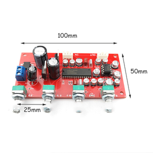 Image 5 - UPC1892CT Voorversterker Toon Boord Voorversterker NE5532Tone Controle Potentiometer Scheiding Dual Dc 12 V 24 V